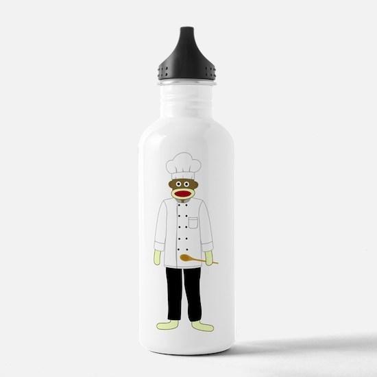 Sock Monkey Chef Water Bottle