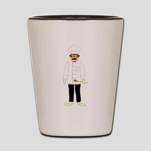 Sock Monkey Chef Shot Glass
