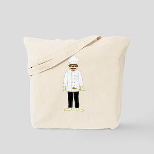 Sock Monkey Chef Tote Bag