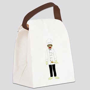 Sock Monkey Chef Canvas Lunch Bag