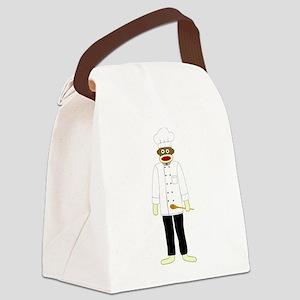 Sock Monkey Chef Canvas Lunch Bag