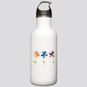 Flowers Stainless Water Bottle 1.0L