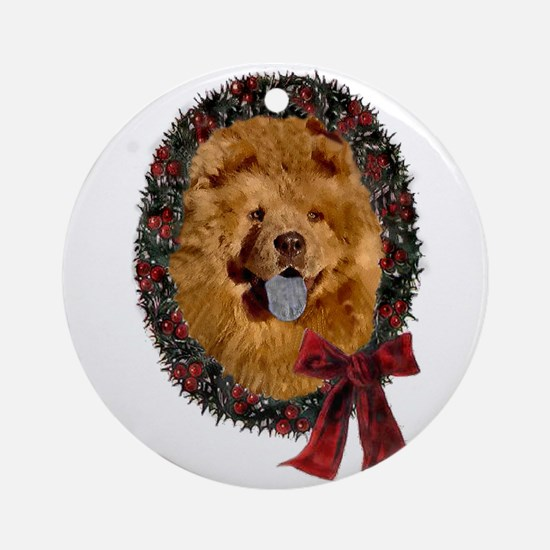 Chow Chow Christmas Round Ornament