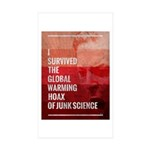 I Survived The Global Warming Hoax Sticker (Rectan