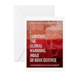 I Survived The Global Warming Hoax Greeting Cards