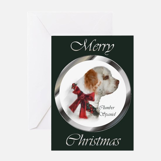 Clumber Spaniel Christmas Greeting Card