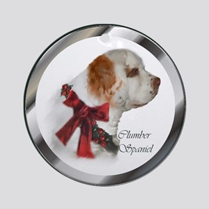 Clumber Spaniel Christmas Round Ornament