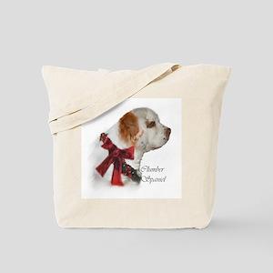Clumber Spaniel Christmas Tote Bag