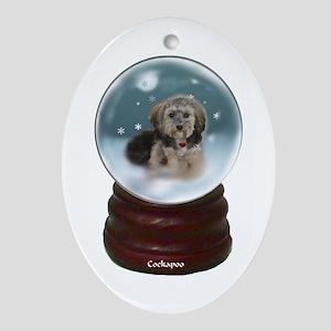 Cockapoo Christmas Ornament (Oval)
