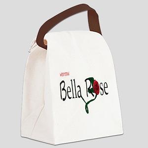 Western Bella Rose Canvas Lunch Bag