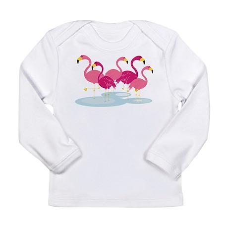 Flamingos Long Sleeve Infant T-Shirt