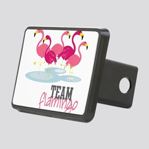 Team Flamingo Rectangular Hitch Cover