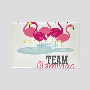 Team Flamingo Rectangle Magnet