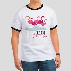 Team Flamingo Ringer T
