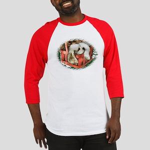 Cocker Spaniel Christmas Baseball Tee