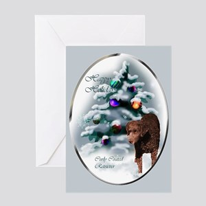 Curly Coated Retriever Christmas Greeting Card