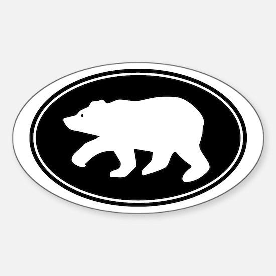 Bear Sticker (Oval)