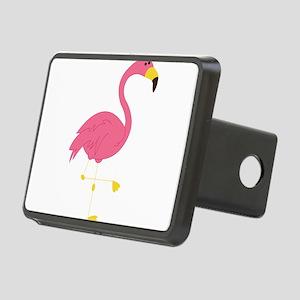 Pink Flamingo Rectangular Hitch Cover