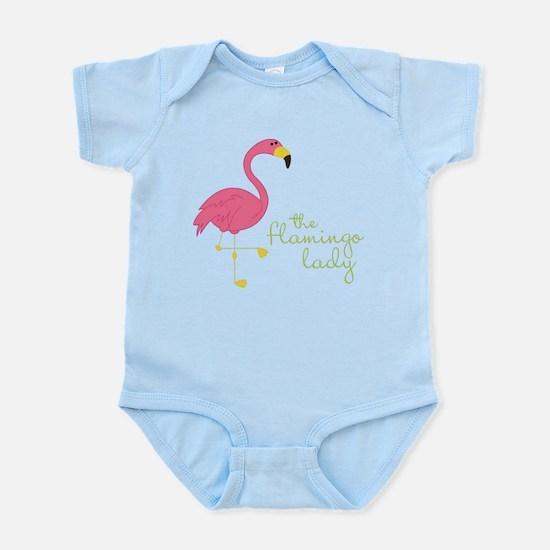 The Flamingo Lady Infant Bodysuit