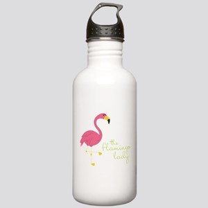 The Flamingo Lady Stainless Water Bottle 1.0L
