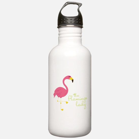 The Flamingo Lady Water Bottle