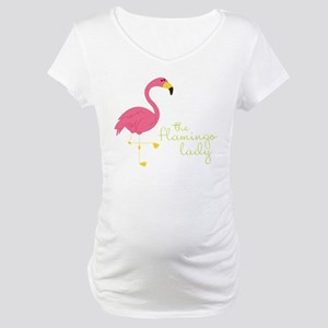 The Flamingo Lady Maternity T-Shirt
