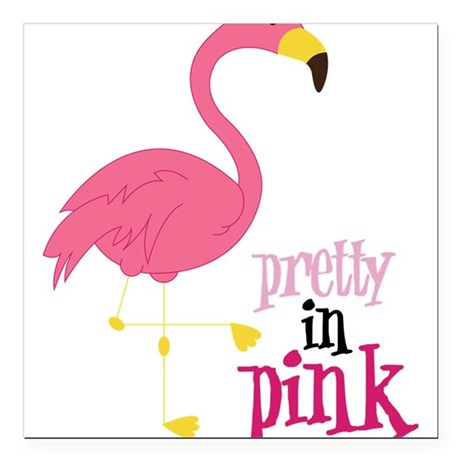 """Pretty In Pink Square Car Magnet 3"""" x 3"""""""
