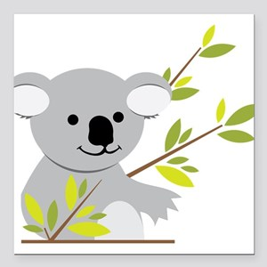 "Koala Bear Square Car Magnet 3"" x 3"""