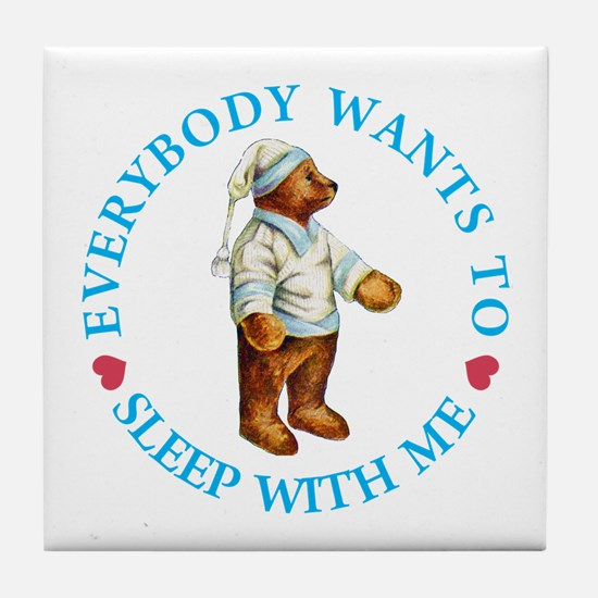 Sleepy Time Bear Tile Coaster