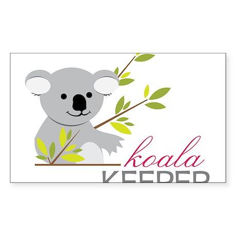 Koala Keeper Sticker (Rectangle)