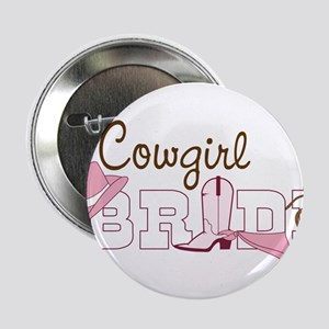 """Cowgirl Bride 2.25"""" Button"""