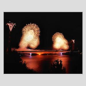 Fireworks - GG Bridge Small Poster
