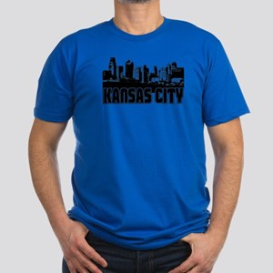 Kansas City Skyline Men's Fitted T-Shirt (dark)