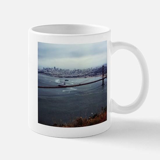USS Nimitz - Golden Gate Bridge Mug