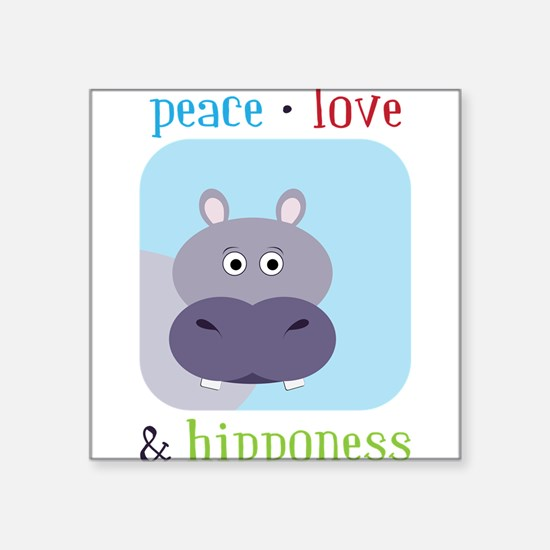 "Hipponess Square Sticker 3"" x 3"""