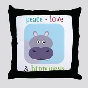 Hipponess Throw Pillow