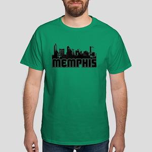 Memphis Skyline Dark T-Shirt