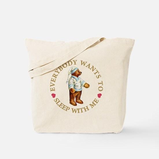 Sleepy Time Bear Tote Bag