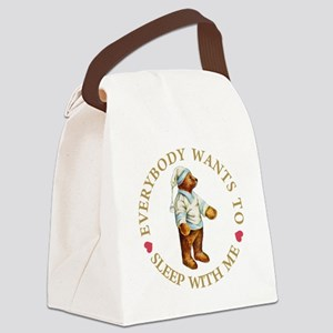 Sleepy Time Bear Canvas Lunch Bag