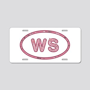 WS Pink Aluminum License Plate