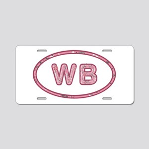 WB Pink Aluminum License Plate