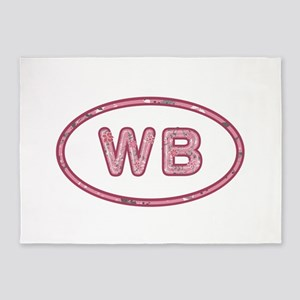 WB Pink 5'x7'Area Rug