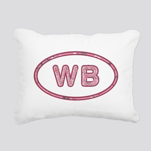 WB Pink Rectangular Canvas Pillow