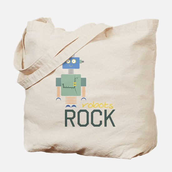 Robots Rock Tote Bag