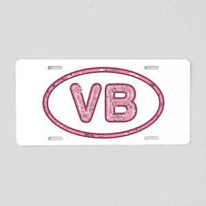 VB Pink Aluminum License Plate