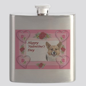 Valentine OC Hearts and Roses Card Flask