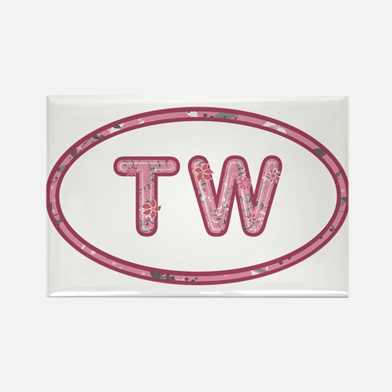 TW Pink Rectangle Magnet
