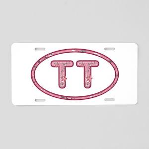 TT Pink Aluminum License Plate