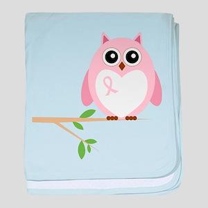 Awareness Owl baby blanket
