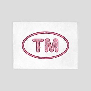 TM Pink 5'x7'Area Rug